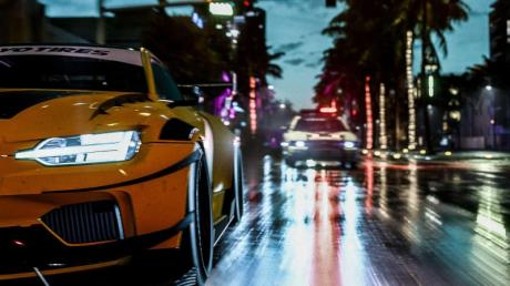 Uh, oh! Polizei im Rückspiegel. Im Storymodus müssen sich Spieler von «Need for Speed Heat» vor den Ordnungshütern in Acht nehmen. Foto: EA/dpa-tmn