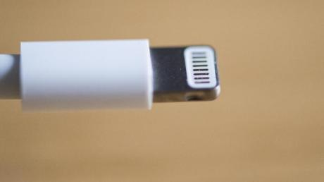 Das Ladekabel eines iPhones.