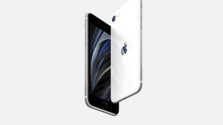 Vorne schwarz, hinten weiß: Das iPhone SE ist Apples neues Einstiegsmodell.