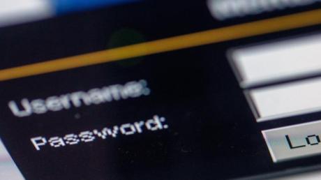 Das Abfragefenster für Username und «Password» auf einer Internetseite.