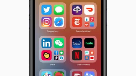 Übersichtlich:Die neue App-Bibliothek in iOS 14.