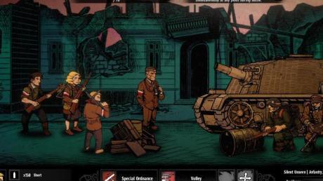 Zug um Zug: Die rundenbasierten Kämpfe in «Warsaw» ähneln dem Fantasy-Horror-Rollenspiel «Darkest Dungeon».