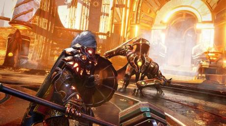 Held gegen Monster: Solche Kämpfe sind der Hauptbestandteil von «Godfall».