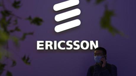 Stand des schwedischen Technologieunternehmens Ericsson auf der PT Expo.