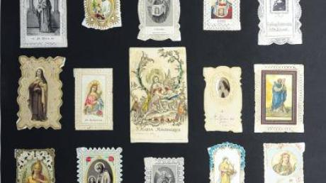Heiligenbildchen stehen bei der aktuellen Ausstellung der Mertinger Museumsfreunde im Blickpunkt.