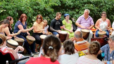 Der Auftritt der Trommelgruppe der Fachschule Dürrlauingen sorgte für viel Begeisterung unter den Anwesenden.