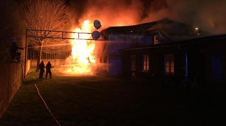 Das Asylbewerberheim in Höchstädt brannte im April völlig aus. Nun gibt es Neuigkeiten zu diesem und anderen Bränden.