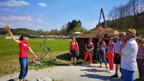 Das Ziel der Tour ist der Archäpoark Niederstotzingen.