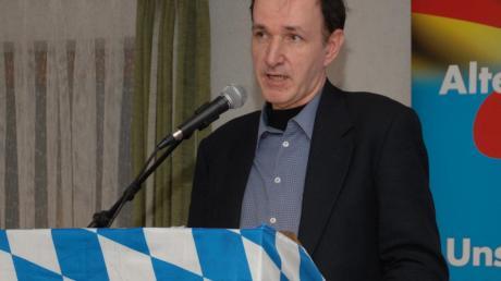 Der AfD-Bundestagsabgeordnete Gottfried Curio war Hauptredner. <b>Foto: how</b>