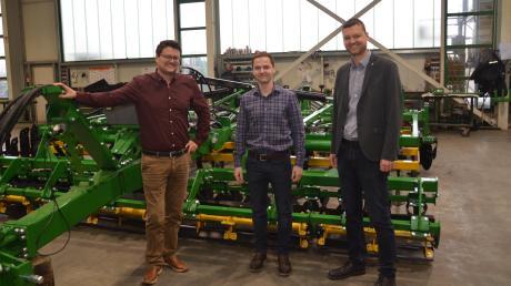 Die Firma Kerner ist ein erfolgreiches Unternehmen. Damit das auch in Zukunft so bleibt, gibt es nun ein junges Führungsteam, von links: Geschäftsführer Tobias Kerner, Geschäftsführer Ludwig Kirner und Gesellschafter Stefan Kerner.