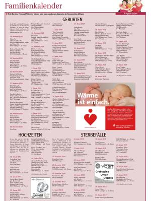 Familienkalender Februar