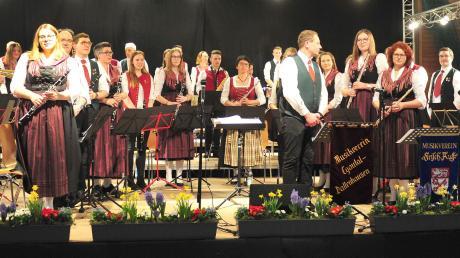 """Die """"Egautaler Musikanten"""" mit ihrem Dirigenten Andreas Westhauser."""