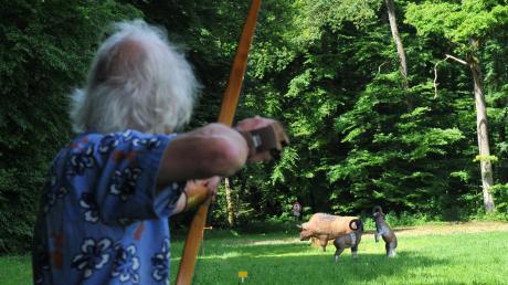 Im Ellerbacher Forst kann bereits auf rund 20 Hektar auf versteckte 3D-Ziele geschossen werden. Der Bogensport direkt in der Natur soll vielseitiger und abwechslungsreicher als das Schießen auf Scheiben sein.