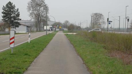 An diesem Abschnitt soll die Park-&-Ride-Anlage am Bahnhof Blindheim/Unterglauheim demnächst gebaut werden.