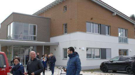 Viele Marktbesucher schauten beim neuen Ärztehaus vorbei.