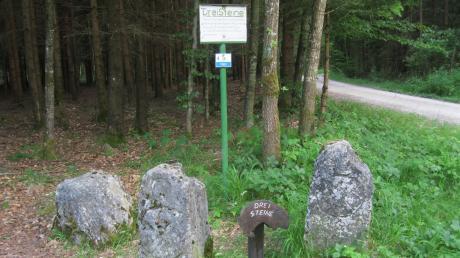 Einst galten die Drei Steine als verrufener Ort. Hier stießen die Herrschaftsbereiche des Herzogtums Pfalz-Neuburg, der Grafschaft Oettingen und des Fürstentums Thurn und Taxis zusammen. Heute sind die Drei Steine ein beliebter Ort für Wanderer, Radfahrer und im Winter für Skilangläufer.