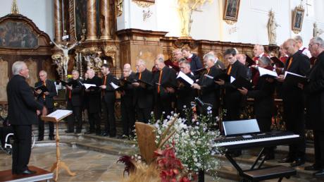 Die Männerchöre Binswangen und Schretzheim eröffneten zusammen mit dem Orchester das Konzert.