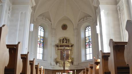 Blick in Haunsheims Dreifaltigkeitskirche.