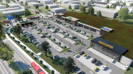 So könnte das Einkaufszentrum im Lauinger Osten aussehen – falls es wirklich gebaut wird. Ein Bürgerbegehren will das allerdings verhindern.