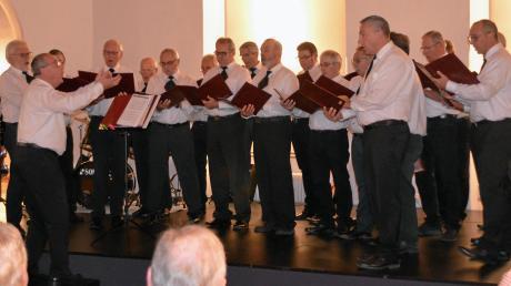 Der Bissinger Männerchor trug unterhaltsame Hits von früher, teils auch zum Mitsingen, vor.