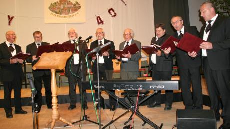 Das Bissinger Doppelquartett feiert das Jubiläum zum 40-jährigen Bestehen mit einem Konzert im Bissinger Schloss.