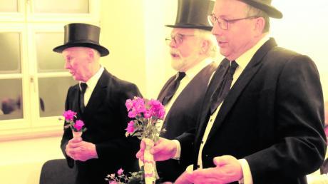 """Die beliebte """"Brautschau"""" wurde von Manfred Herreiner, Wolfgang Huber und Roman Bauer schon viele Male bei unterschiedlichsten Gelegenheiten gesungen."""