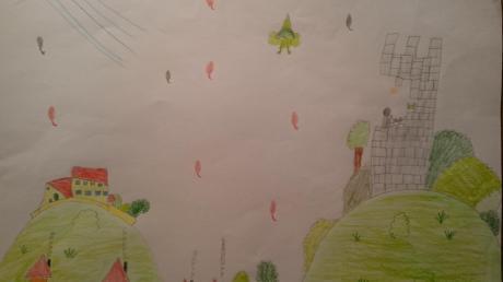 So stellt sich der achtjährige Sebastian Greiner von der Syrgensteiner Grundschule die Elfe Genia und ihr Zuhause vor.