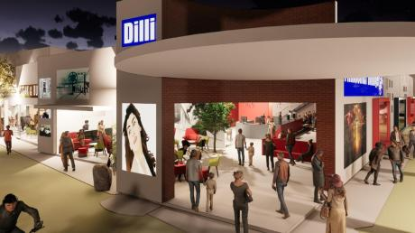 So könnte der Eingangsbereich des neuen Dillinger Kinos aussehen. Durch ein großes Foyer und viele Sitzgelegenheiten wollen die Betreiber ein gemütlicheres Ambiente schaffen. Links könnte zudem ein Restaurant für Steaks und Burger entstehen.