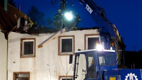 Ob Hochwasser, Verkehrsunfälle, Sturmschäden oder bei Bränden: Das Technische Hilfswerk ist bei Katastrophen gefordert. Das Bild zeigt den Einsatz nach einem Brand im Jakobstal vor wenigen Jahren.