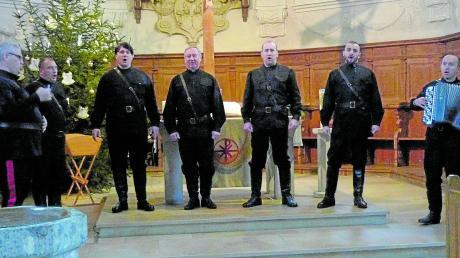 Das Klangseptett der Don Kosaken überwältigte die Zuhörer in der Haunsheimer Dreifaltigkeitskirche mit großartigem Stimmvermögen.