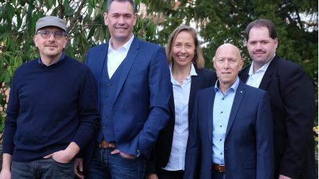Sie führen die SPD Gundelfingen: (von links) Bernd Duschek, Jürgen Hartshauser, Birgit Spengler, Hans Stenke und Uwe Hartshauser.