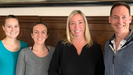 Sie stellten Bürgermeisterin Miriam Gruß (2.v.r.) den neuen Verein vor: (von links) Lena Bendele, Corinna Keller und Christian Deisler.
