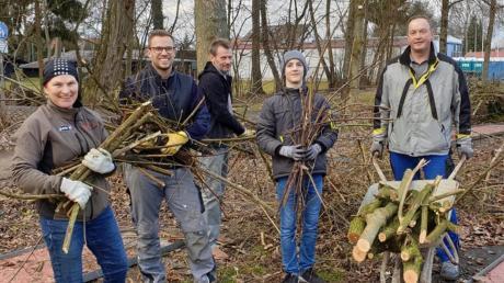 Die TVD-Mitglieder waren in diesen Tagen aktiv und transportierten die angefallenen Abschnitte der Bäume und Hecken ab.