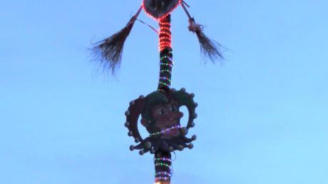 Zum zweiten Mal wurde der Narrenbaum auf der Gundelfinger Bleiche von Hexenzünften gelobt.