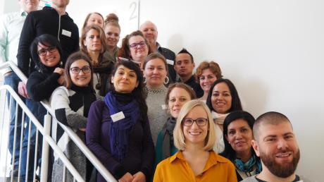 Für ein Gruppenbild stellten sich alle Teilnehmer der Bewerbertage für die Ausbildung als Hellerziehungspflege zur Verfügung.