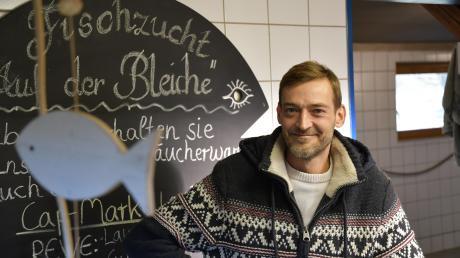 Daniel Ostertag muss die Fischzucht auf der Bleiche in Lauingen schließen. Die Auflagen waren zu hoch.