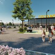 So soll das Einkaufszentrum im Lauinger Osten einmal aussehen – zumindest, wenn der Bürgerentscheid dementsprechend ausfällt. Investor Hahn-Gruppe hat jetzt das komplette Konzept veröffentlicht.