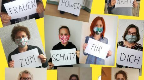 Die Gruppe Frauenpower aus Wittislingen stellt Masken selbst her. Dafür ist echte Teamarbeit gefragt.