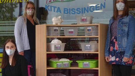 Die Mitarbeiter der Bissinger Kindertageseinrichtung haben mehr als 750 Behelfsmasken für die Mitbürger genäht und kostenlos bereitgestellt.