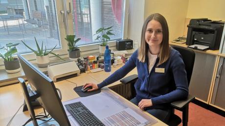 Antonia Fischer, Studentin der DHBW Heidenheim, hilft während der Corona-Krise im Haus der Senioren in Gundelfingen aus.