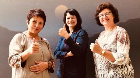 Sie sind die Frauen hinter der Frauenwelt in Höchstädt (von links): Claudia Kohout, Sonja Gastl, Roswitha Riedel (Bild entstand vor Corona).