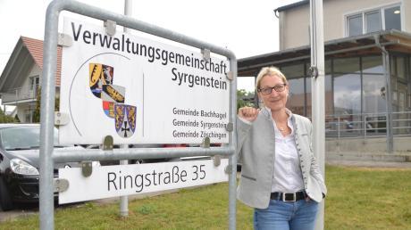Mirjam Steiner ist seit rund 100 Tagen Bürgermeisterin von Syrgenstein. Ein Vorhaben, das sie als VG-Vorsitzende erwartet, ist ein neues Gebäude für die Verwaltungsgemeinschaft. Die derzeitigen Räumlichkeiten sind zu eng.