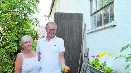 Ursula und Benedikt Wagner wollten mit dem Erbe ihrer Aislinger Vorfahren bewusst umgehen. Wo ehemals das Pfründehaus stand, gedeihen nun viele Tomatensorten mit Blick auf den Kirchturm von St.-Georg.