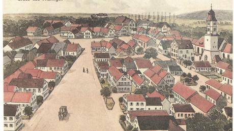 Auf dieser Karte ist Fristingen im Jahr 1920 zu sehen. Das Foto ist Teil der Chronik, die am Sonntag zum ersten Mal verkauft wird.