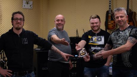 Das ist die Band Waidmann aus dem Aschberg: (von links) Manuel Nowak, Peter Ahle, Fabian Link und Philipp Hieber.