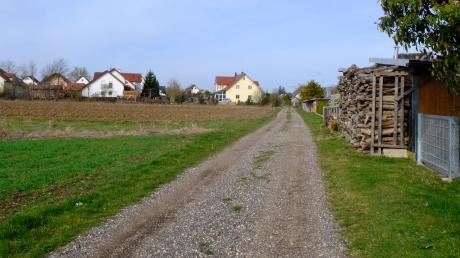 Ein Teil des Rätselrundgangs führt an Feldern entlang.