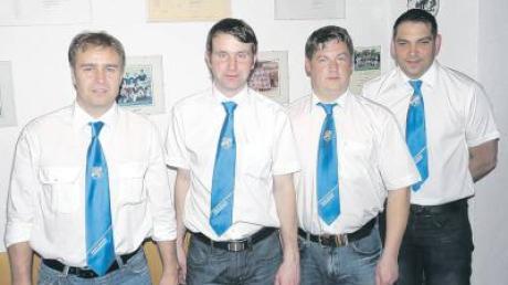 Bei der Generalversammlung des BC Huisheim wurde der Vorstand im Amt bestätigt (von links): Kassier Volker Soiderer, 2. Vorsitzender Andreas Gail, Vorsitzender Klaus Färber und Schriftführer Alexander Schuster.