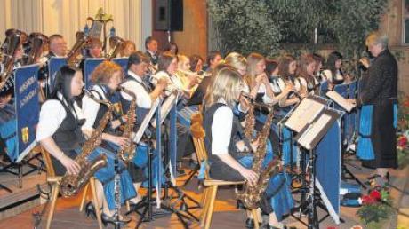 Die Musikanten des Musikvereins Huisheim-Gosheim ernteten großen Applaus für ihr mühsam einstudiertes Spiel.