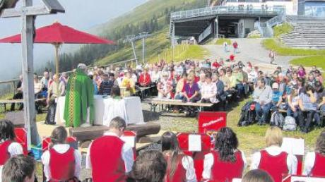 Die Messe wurde auf dem Fellhorn gefeiert.