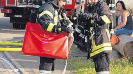 Ihre Leistungsfähigkeit stellten Mitglieder der Freiwilligen Feuerwehr Daiting unter Beweis.